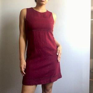 VINTAGE Maggy London 1960s Linen Mini Dress Size 6